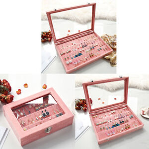 3pcs Jewelry Earrings Display Case Storage Box Organizer Holder Hanger Gifts