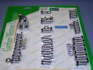 Chevy Small Block Engine Bolt Kit Chrome Bowtie