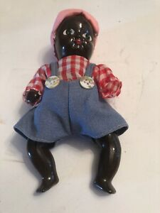 Early 1900 S Porcelain Minstrel Show Blackface Jim Crow Racist Female Figurine