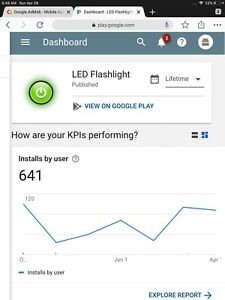 Android App Flashlight On Google Play Make Money App Store Published