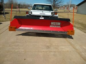 8 Western Uni Mount Snow Plow With Wings
