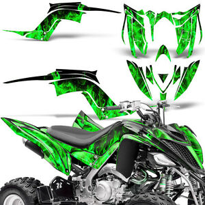 Decal Graphic Kit Yamaha Raptor 700 ATV Quad Decal Wrap 700R Deco 13-18 ICE GRN