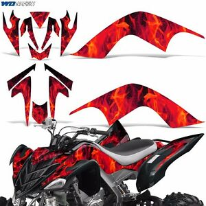 Decal Graphic Kit Yamaha Raptor 700 ATV Quad Decal Wrap 700R Deco 07-12 ICE RED