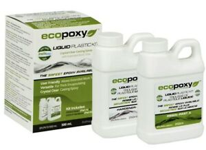 Ecopoxy Liquid Plastic 500ml 1 1 Kit Casting Epoxy Resin wood river Table Resin