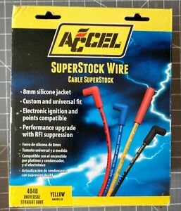 Accel 4040 Spark Plug Wire Set 8mm Super Stock Yellow