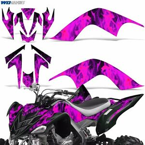 Decal Graphic Kit Yamaha Raptor 700 ATV Quad Decal Wrap 700R Deco 07-12 ICE PINK