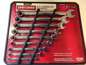 Craftsman Full Polish 9 Piece Combination Sae Wrench Set 1 4 To 3 4 Brand New