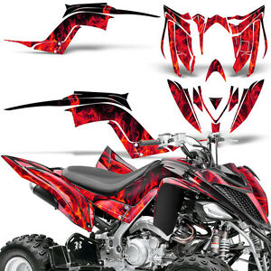 Decal Graphic Kit Yamaha Raptor 700 ATV Quad Decal Wrap 700R Deco 13-18 ICE RED