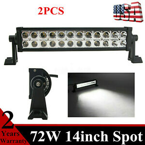 1x 72w 14inch Led Spot Light Bar Philips Fits Jeep Truck Front Bumper Off Road