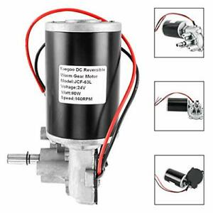 160rpm Reversible Worm Gear Motor Electric Gearbox Motor High Torque Speed 80w