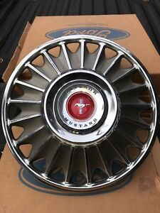 4 New Oem Nos 1967 Ford Mustang Hubcaps Wheel Covers Wheelcovers