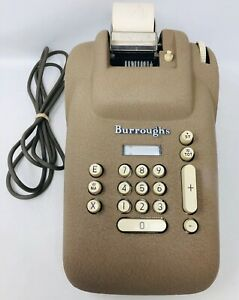 Vintage Burroughs Adding Machine Calculator J Series Classic For Parts