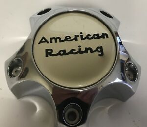 One Used American Racing Chrome 6193 1215 cap Custom Wheel Center Rim Cap 2552