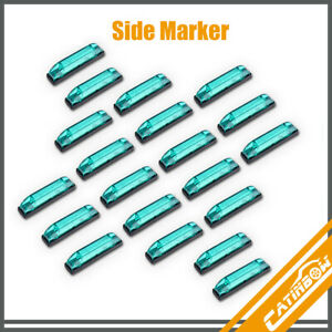 20pcs 4inch Green 6led Strip Light Side Marker Vehicles Indicator Clearance Lamp
