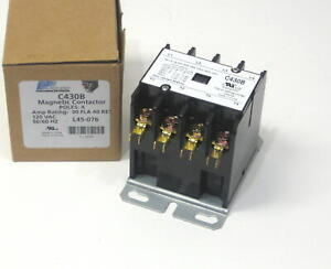 Packard C430b 4 Pole 30 Amps 120 Volt Coil Air Conditioner Contactor