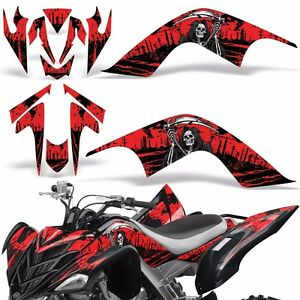 Decal Graphic Kit Yamaha Raptor 700 ATV Quad Decal Wrap 700R Deco 07-12 REAP RED
