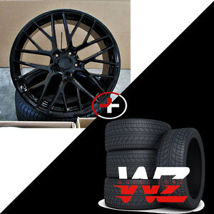 22 R1510 Style Gloss Black Wheels W Tires Fits Porsche Cayenne
