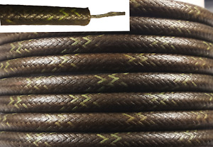 Cloth Spark Plug Wire Black W Green Classic Car Motorcycle 25ft
