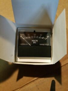New Yokogawa 9sm21002 2a Panel Meter Dc Ammeters 0 40 Dc Volts Free Ship Usa
