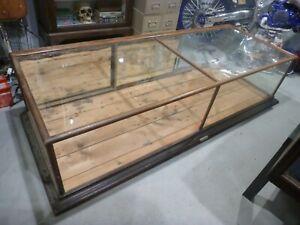 Antique Display Case Curio Jewelry Show Case Glass And Oak Wood H Kruse Ohio