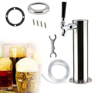 Beer Dispenser Single Tap Faucet Stainless Chrome Draft Beer Tower Bar Kegerator