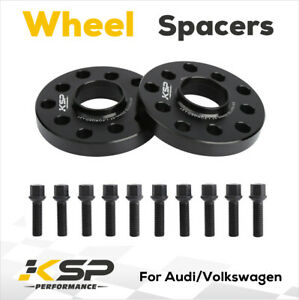 2 15mm 5x100 5x112 Hubcentric Wheel Spacers Adapters For Vw Audi 57 1mm Bore