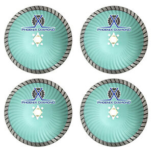 4pk 4 5 Rogue X Turbo Diamond Blade Wet dry Cut Granite Marble Stone masonry