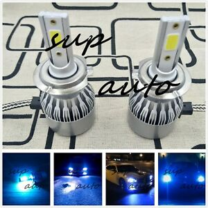 H7 Cree Led Headlight Bulb Conversion Kit High Low Beam Fog Light 8000k Ice Blue