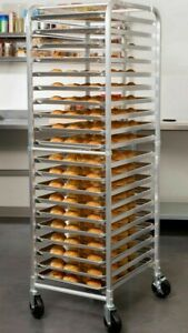 Bakers Speed Rack 20 Pan End Load Bun Commercial Dough Baking Full Sheet Pizza
