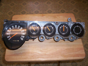 1970 74 Cuda Challenger None Rally Gauge Cluster