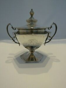 Antique Howard And Co Sterling Silver Sugar Bowl With Lid
