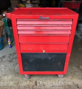 Vintage Snap On Kra377a Roll Coaster cab Tool Box Cabinet With Key 1963
