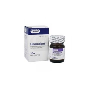 Premier Hemodent Topical Hemostatic Solution Liquid 20cc Bottle Mfg 9007072