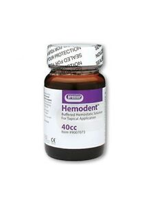 Premier Hemodent Topical Hemostatic Solution Liquid 40cc Bottle Mfg 9007073