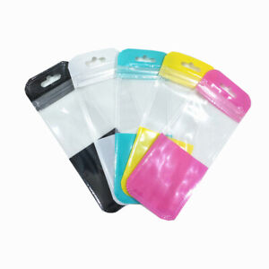 Long Size Colorful Zip Lock Plastic Bags Resealable Poly Phone Accessary Package