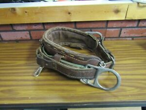 Buckingham Linemans Safety Climbers Tree Climbing Belt Leather Quality Med l