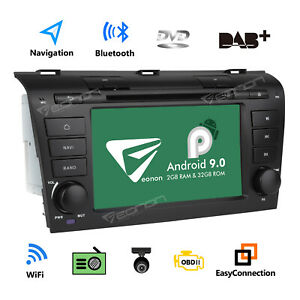 Android 9 0 7 Car Radio Dvd Gps Navigator Touch Screen For Mazda 3 2004 2009 I