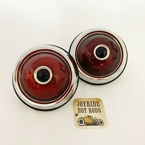 Hot Rod 1950 Pontiac Tail Lights With Blue Dot With Rubber Body Gaskets 1pr