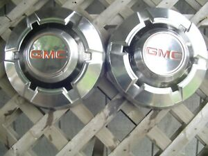 Two Vintage Gmc Jimmy Chevrolet Pickup Truck Blazer Van Hubcaps Wheel Covers 16
