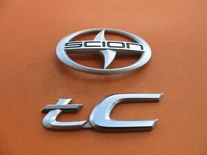 05 06 07 08 09 10 Scion Tc Rear Trunk Lid Emblem Logo Badge Sign Symbol Set 1