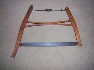 Awesome Antique Rustic Primitve Old Farm Hand Buck Saw Wood Cutting Tool