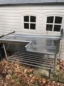 Stainless Restaurant Under Counter Table Nsf