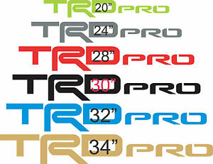 two Trd Pro Decals Toyota Truck 4x4 Off Road Vinyl Decals Pick Size Color
