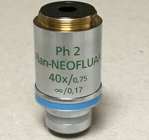 Zeiss Plan Neofluar 40x 0 75 Ph2 Phase Contrast Objective 440351 0 17