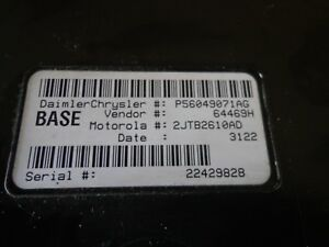 2001 2004 Dodge Dakota Central Timing Control Module Ctm Bcm P N 56049071ag
