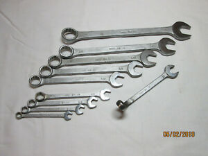 Vintage Mac Tools Cw Series 12pt Combination Wrench Set 1 4 7 8 Incomplete Usa