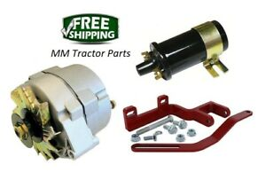 Ih Farmall 140 Tractor 12v Alternator Conversion Bracket Kit 12 Volt