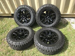 18 Chevy Silverado 2500 3500 Oem Black Wheels Rims Tires 2017 2018 2019