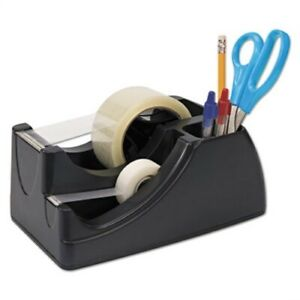 Recycled 2 in 1 Heavy Duty Tape Dispenser 1 And 3 Cores Black