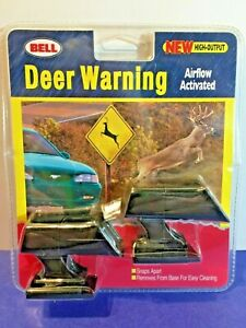 Retired 2001 Bell Car Deer Warning Airflow Activated Sound Alert Animals New